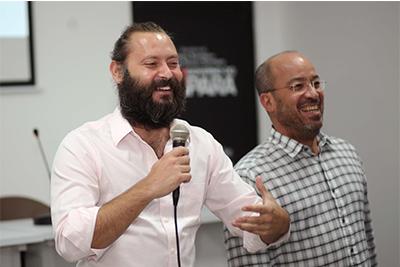 Paul Bragiel e José Roberto Marinho
