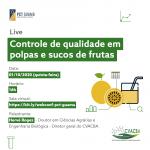 Controle de qualidade de polpas e sucos de frutas é tema de webinário